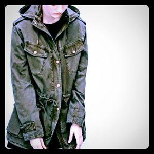 TALULA Aritzia Women's Trooper Jacket Hooded Utili